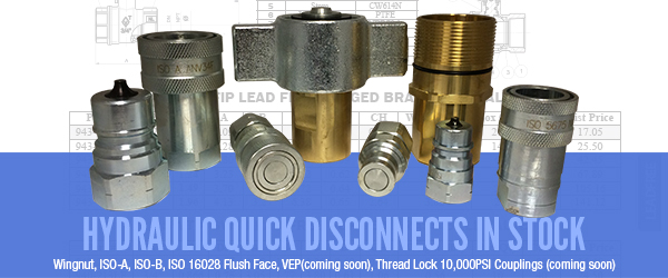 Hydraulic Quick Disconnects in stock