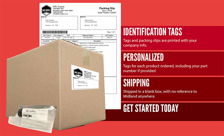 private label shipments with your logo on boxes packing slips and product labels
